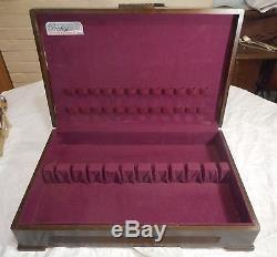 119p VERY PRETTY Art Deco Valencia Silverplate Set for 16 Box Avail