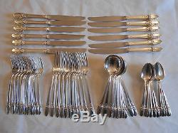 1847 Rogers Bros First Love Silver Plated Dinner Set Service For 12