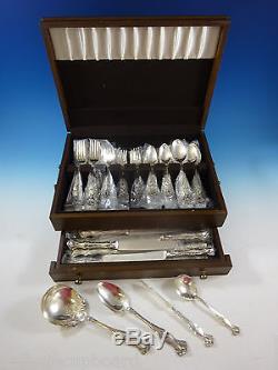 1847 Rogers Vintage Grape Plate Silverplate Flatware Set Service For 12 52 Pcs