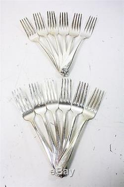 1847 Rodgers Daffodil Silver-plate Flatware 80 Pieces Set Service for 12