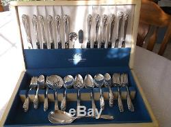 1847 Rogers Bros. 79pcs Service For 12 Silverplate Flatware Set