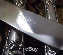 1847 Rogers Bros CHARTER OAK Set of 6 HH Dinner Knives 9 5/8 1906 NICE