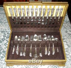 1847 Rogers Bros ETERNALLY YOURS Flatware Set for 12 with Chest 77 pcs Very Good
