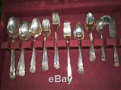 1847 Rogers Bros Eternally Yours Silverplate Grille Set For 8 Unused