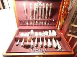 1847 Rogers Heritage flatware set small & large Serving Pcs. 72 NICE svc for 8