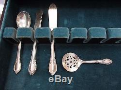 1847 Rogers Remembrance 101 Piece Set Service for 12, Silverplate Flatware