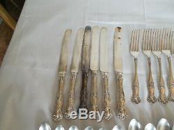 1847 Rogers Vintage grape 1904 silverplate flatware 40pc set