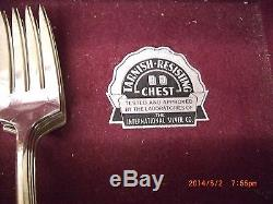 1847 rogers bros sterling silverware set with case
