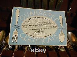 1904 Set Of Vintage Grape Silverplate 1847 Roger Bros Silverware Set 40 Pcs