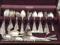 1936 Oneida Community Coronation 58 Piece Silverplate Flatware Silver Plate Set