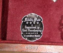 1937 Nobility 68pc Reverie Silverplate Flatware Set! Silverware In Box