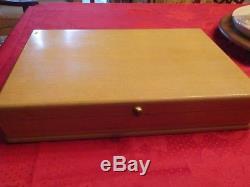 1950 Service For 8 Daffodil Pattern 1847 Rogers Silverplate Flatware Set W Box