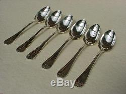 # 1 French Silverplate Christofle EMPIRE MALMAISON DINNER SPOONS Set of 6