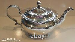 3PC Antique silver plated tea set Hallmarked W S A1 Very Good quality condition