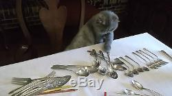 40 Pc. Set, Svc for 12 in box 1847 Rogers Bros. Silver Plate Springtime 1957