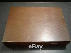44 pc Set Gorham EP 1923 S Silverware in Case Service for 6 Monogram No Reserve