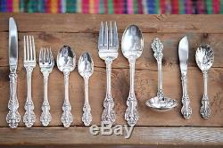(45) pc. Reed & Barton KING FRANCIS Silverplate Flatware Set EXCELLENT