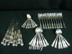 47 pcs. Williams 1880 Silverplate Flatware Set Lakewood / Oak Pattern