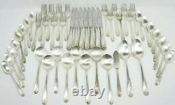 48 Pce. 1847 Rogers Bros IS Silverware Set Daffodil Silver Plate