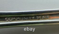 49 PC Deauville Oneida Community Plate Silverplate Flatware Set Deco 1929 K Mono