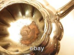 4 Piece Community Silverplate Melon Canada Tea Set Ca2d318