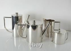 4pc Fornari Roma Italian Coffee Set, Coffee pot, milk, sugar bowl, milk pitcher