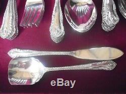 (50) Pc Butler EPNS Silverplate Flatware Set, England #18