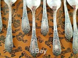 50 Piece Vintage Russian (USSR era) Melchior Silver Plate Flatware Set Unused