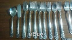 50 pc SET of Vintage Silver plate Flatware Wm. Rogers Mfg. Co. Jubilee