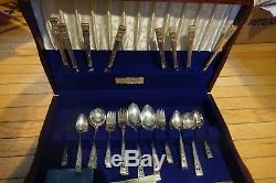 52 ONEIDA COMMUNITY SILVER PLATE SET CORONATION Very Good Condition