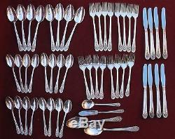(52) Pcs Wm Rogers Jubilee pattern Silver plate flatware set