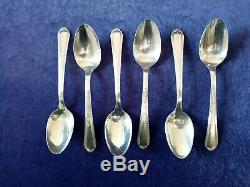 52 Piece Plymouth Silver plate Flatware Set in wooden storage box silverplate