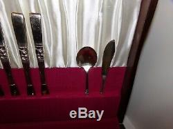 53 Pieces Oneida Community Morning Star Silverplate Flatware Set with refinished
