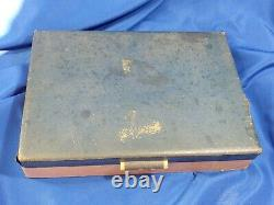 55pc LOT SET Antique Silver-plate Flatware Oneida Tudor Wm Rogers in Case VTG