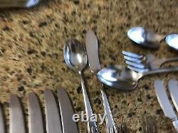 59 pc Oneida Community Plate Deauville Lot Silverplate Set 1929 Art Deco