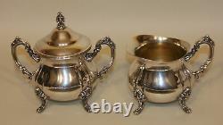 5 Pc Towle Louis Philippe Silverplate Tea Set Coffee Teapot Creamer Sugar & Tray