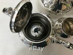 5 Pcs Reed & Barton Regent #5600 Silverplate Teapot Set