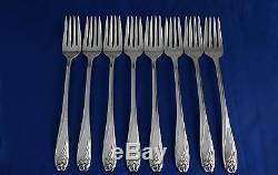 $600 Value 53 Pc Set 1950 DAFFODIL Silverplate Silverware Flatware + Wood Chest