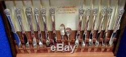 60 PC Set ETERNALLY YOURS 1847 Rogers Bros. Silverplate Flatware Set With Case