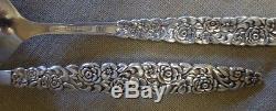 61 PC Set Wm Rogers & Son Floral Bouquet AKA Silver Bouquet Silverplate Flatware