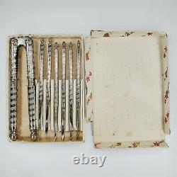 62 Piece Antique Holmes & Edwards Insico Silverware Flatware Silverplate Set Lot