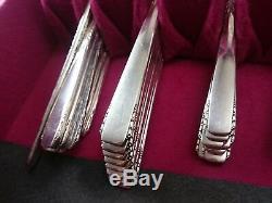 66 PCS BROOKWOOD BANBURY- SILVER PLATED Flatware Set 1950 ONEIDA Art Deco LOT