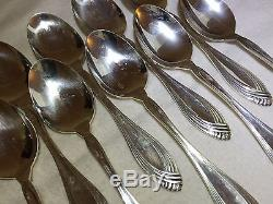 69-Piece SET of Silverplate Flatware Oneida Community Heiress Pattern