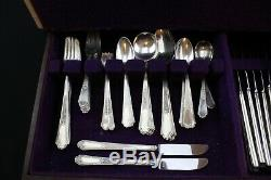 69 pc SET Rogers Bros Brother Ancestral Pattern SILVER PLATED FLATWARE RARE PCS