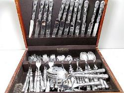 71 Piece SL Silverplated Silverware Set in Wood Box