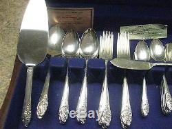 77pc COMMUNITY EVENING STAR SILVERPLATE FLATWARE SET WithSERVING PCS