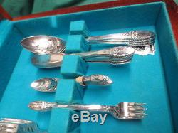 78 pc. Vtg 1947 Rogers Bros IS First Love Silverplate Flatware Set