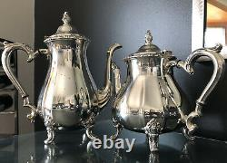 7-Pc Webster Wilcox Oneida Silver Plated Tea / Coffee Set withFooted Tray MORE