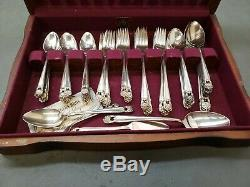 80 Pc Rogers Eternally Yours Silverplate Flatware Set Service For 12