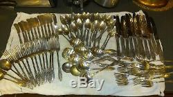 83 piece ONEIDA Heirloom Plate CHATEAU silverware Monogram Initial D